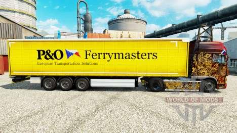 La piel de la P&O Ferrymasters para remolques para Euro Truck Simulator 2