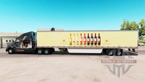 La piel de E & J Gallo Winery en el trailer exte para American Truck Simulator