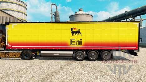 La piel Eni para remolques para Euro Truck Simulator 2
