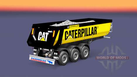 Semi-remolque volquete Schmitz Caterpillar para Euro Truck Simulator 2