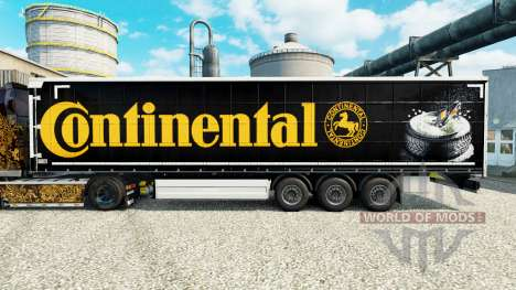 La piel Continental para semi-remolques para Euro Truck Simulator 2