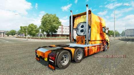 Las llamas de la piel para camión Scania T para Euro Truck Simulator 2
