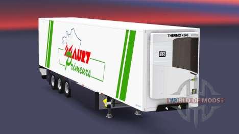 Semirremolque refrigerado EN Maury Primeurs para Euro Truck Simulator 2