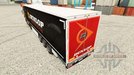 La piel de Dunlop semi para Euro Truck Simulator 2