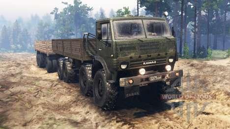 KamAZ-63501 para Spin Tires