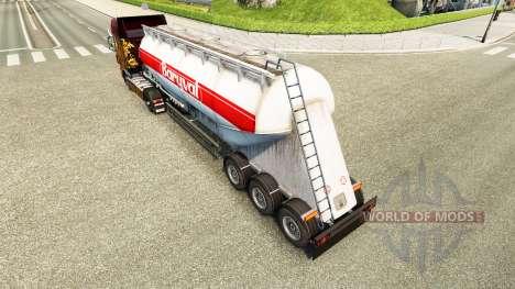 La piel Baryval semi-remolque de cemento para Euro Truck Simulator 2