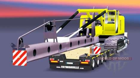 Bajo el barrido con la viruta de la instalación para Euro Truck Simulator 2