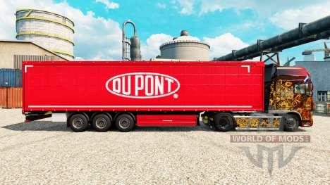La piel Du Pont rojo para remolques para Euro Truck Simulator 2