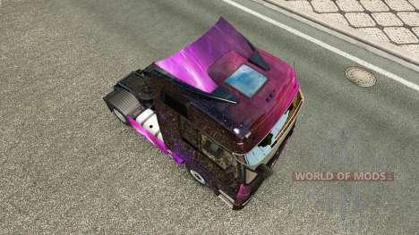 La piel Weltall en la unidad tractora Mercedes-B para Euro Truck Simulator 2