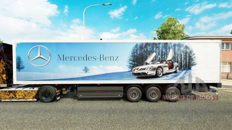 La piel de Mercedes-Benz semi-remolques para Euro Truck Simulator 2