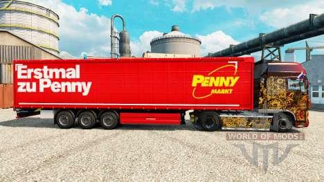 La piel de Penny Markt en semi para Euro Truck Simulator 2