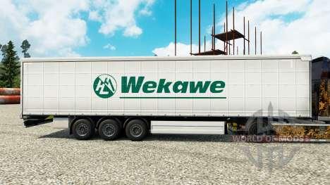 La piel Wekawe para remolques para Euro Truck Simulator 2