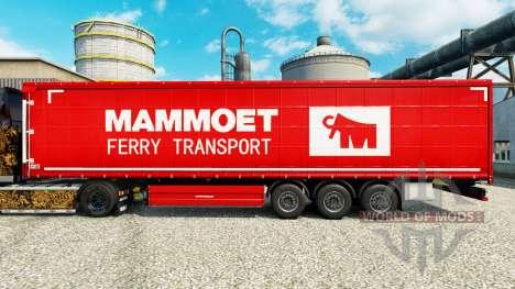 Mammoet de la piel para remolques para Euro Truck Simulator 2