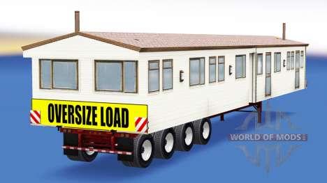 Una colección de trailers con diferentes cargas v3.0 para American Truck Simulator