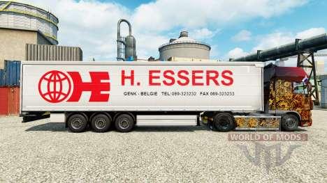 H. Essers de la piel para remolques para Euro Truck Simulator 2