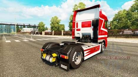 Metálico de la piel para DAF camión para Euro Truck Simulator 2