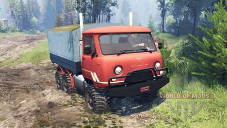 UAZ-33036 6x6 v4.0 para Spin Tires