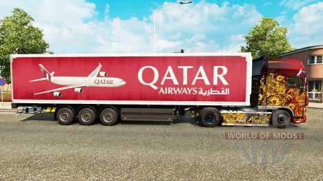 El de Qatar Airways en la piel para remolques para Euro Truck Simulator 2
