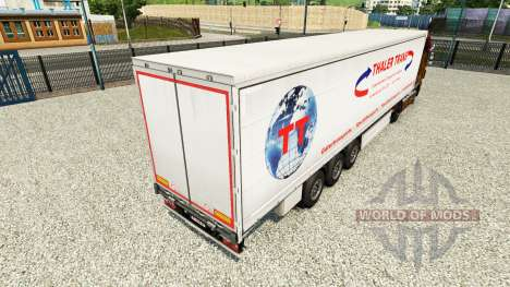 La piel Thaler Trans en una cortina semi-remolqu para Euro Truck Simulator 2