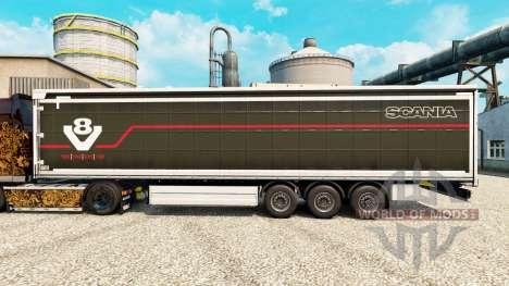 La piel Scania V8 semi para Euro Truck Simulator 2