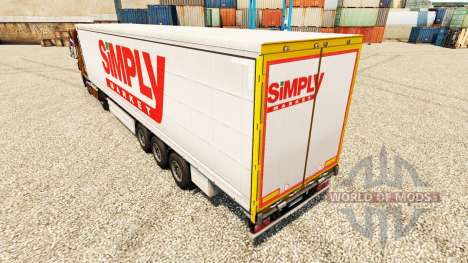 La piel Simplemente de Mercado para remolques para Euro Truck Simulator 2