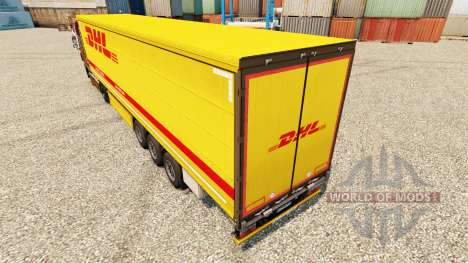 DHL v3 de la piel para remolques para Euro Truck Simulator 2