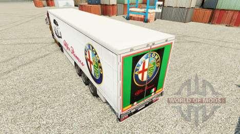 Alfa Romeo piel para remolques para Euro Truck Simulator 2