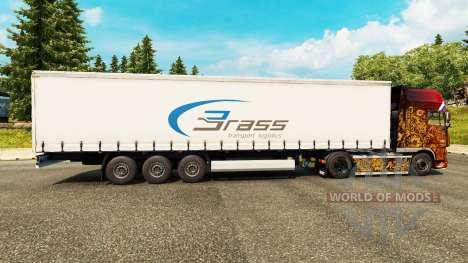 La piel de Bronce de la Logística de Transporte para remolques para Euro Truck Simulator 2