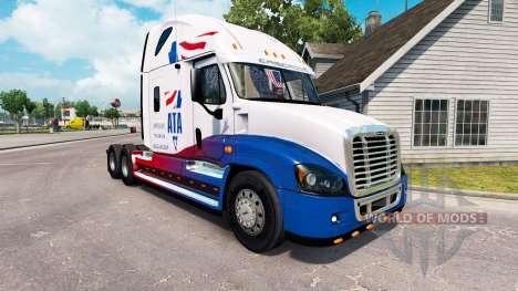 La piel de A. T. Un tractor Freightliner Cascadi para American Truck Simulator