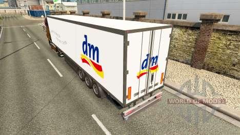 Semitrailer el refrigerador Schmitz DM Droguería para Euro Truck Simulator 2