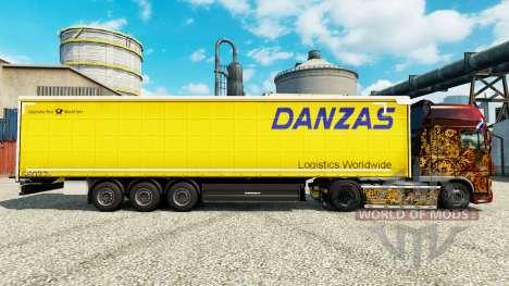 La piel de Danzas de la Logística para remolques para Euro Truck Simulator 2