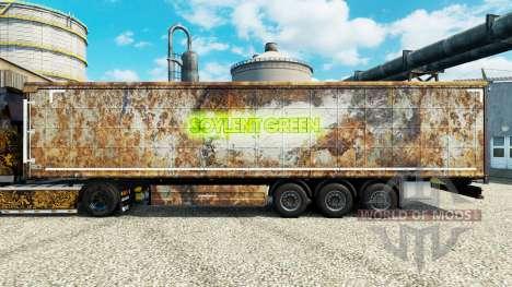 La piel Soylent Green para remolques para Euro Truck Simulator 2
