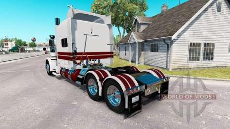 El Caballero Blanco de la piel para el camión Peterbilt 389 para American Truck Simulator