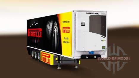 Semi-remolque frigorífico Chereau Pirelli para Euro Truck Simulator 2