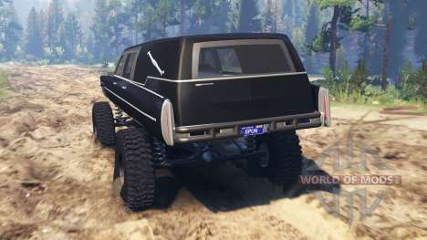 Cadillac Hearse 1975 [monster] para Spin Tires