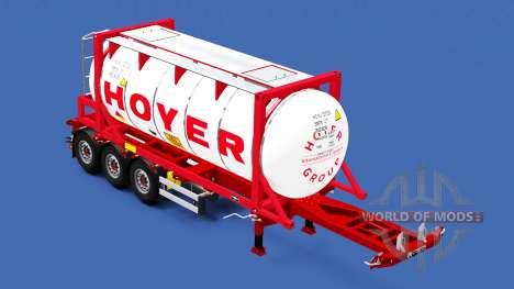 El semirremolque-contenedor de camión con difere para American Truck Simulator