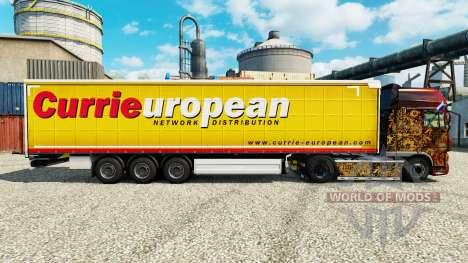 La piel Curry sobre la orden Europea de remolque para Euro Truck Simulator 2