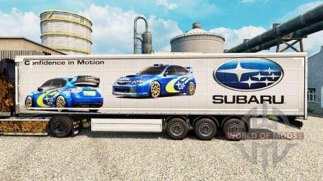 La piel Subaru semi para Euro Truck Simulator 2