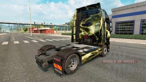 La piel de La mortal tormenta de Volvo trucks para Euro Truck Simulator 2