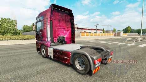 La piel Weltall en el camión MAN para Euro Truck Simulator 2
