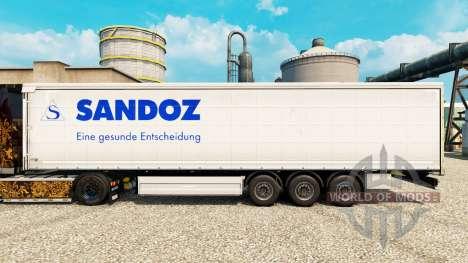La piel de Sandoz para remolques para Euro Truck Simulator 2