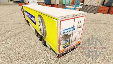 La piel Michelin Latitude en semi para Euro Truck Simulator 2