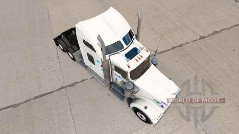 Скин FedEx Custom Critical на Kenworth W900 para American Truck Simulator