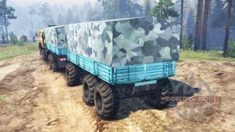 MAZ-515Р 8x8 para Spin Tires