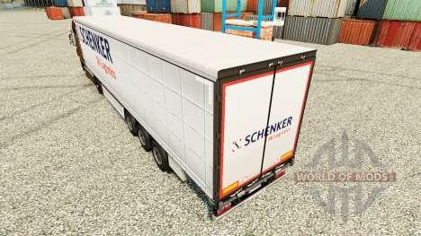 La piel Schenker Logistics de remolques para Euro Truck Simulator 2