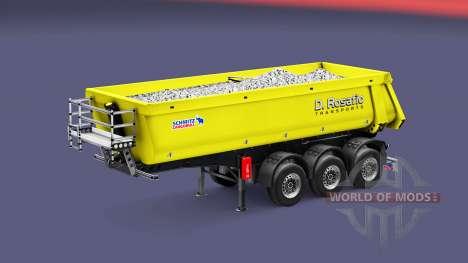 Semi-remolque tipper Schmitz Rosafio Transporte para Euro Truck Simulator 2