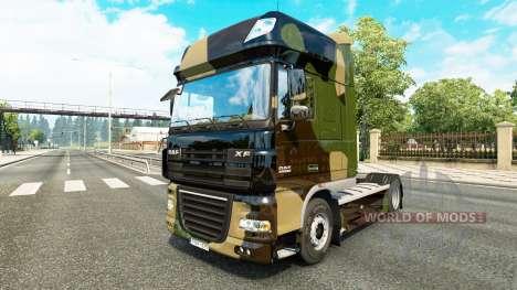 De camuflaje de piel para DAF camión para Euro Truck Simulator 2