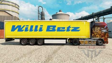 Willi Betz de la piel para remolques para Euro Truck Simulator 2