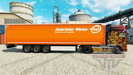 Skin Gebruder Blanco on semi para Euro Truck Simulator 2