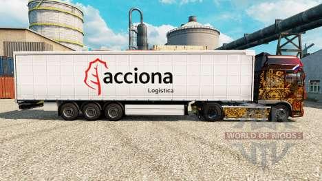 La piel de Acciona para remolques para Euro Truck Simulator 2